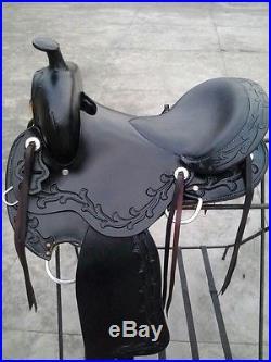 TN Saddlery 17 Gaited Western Sharp tail Saddle Black