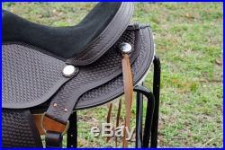 TT201-16 HILASON LEATHER WESTERN FLEX-TREE TRAIL PLEASURE HORSE SADDLE