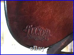 TUCKER SADDLE, BUFFALO MODEL, SEAT 15.5, WIDE TREE