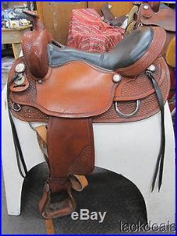 Tennessean Golden Supreme Gaited Horse Trail Saddle 17 Lightly Used