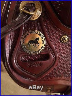 Tennessean Supreme Gaited Trail Saddle, 16 National Bridle