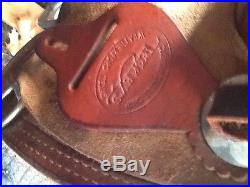 Teskey Reining Saddle, 16 inch lightly used