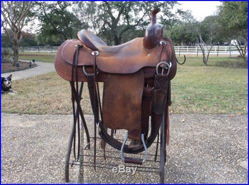 Teskeys 16 Ranch Cutter Saddle
