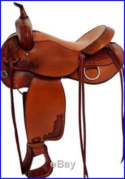 Tex Tan 292499P LIive Oak Trail Saddle, Size 17 inch Pecan