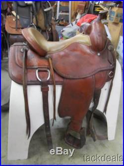 Tex Tan Tex Flex Trail Pleasure Saddle 16 Used Barbwire Border