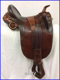 The Australian Stock Saddle Co. Trail withHorn Used 17 Full Quarter Horse Bar