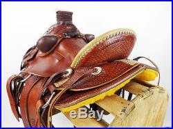 True Wade! 16 heavy western rawhide roping roper ranch cowboy leather saddle