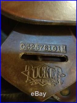 Tucker Western Saddle, 16.5, medium tree, model 257, dark brown & Tucker pad