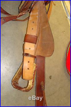 U. S. MADE HEAVY DUTY ROPING SADDLE 16 SMOOTH SEAT ROPER SADDLE RAWHIDE EDGES