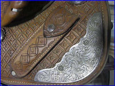 Used 13 Bob Marshall Hand Tooled Treeless Barrel Saddle -No Reserve