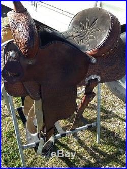 Used 14 1/2 Double J Saddlery Barrel Racing Saddle