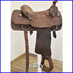 Used 14.5 Howard Council Calf Roping Saddles Code U145HCCALFROPER