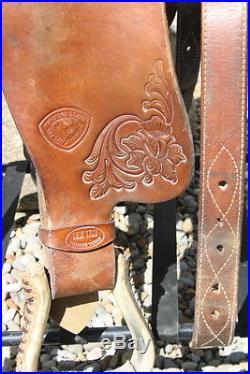 Used 14 Western Tex Tan Barrel Racing Saddle. Quality Used Horse Tack