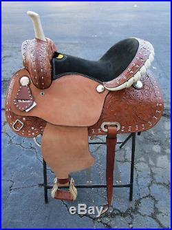 Used 15 16 Barrel Racing Trail Show Pleasure Leather Western