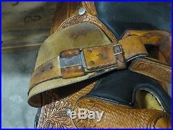 Used 16.5 Dale Chavez Custom Light Brown Show Saddle -No Reserve