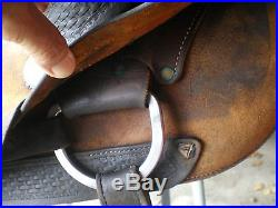 Used 16.5 Piland Cutting Saddle San Angelo TX
