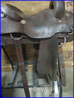 Used 16 Basket Stamped Vinton Cutting Saddle -No Reserve