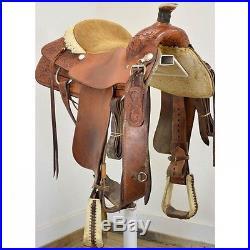 Used 16 Billy Cook Saddlery Team Roping Saddle Code U16BCOOKTR12FL