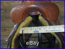 Used 16 Jividen's Customs Revelation Series Ranch Cutting Saddle -No Reserve