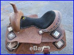 Used 16 Roping Roper Barrel Racing Trail Pleasure Leather Western Horse Saddle
