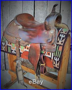 Used 17 1/2 Roohide Cutting Saddle