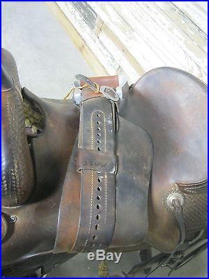 Used 17 Ken Raye's Saddlery Cutting Saddle -No reserve