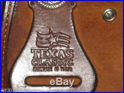 Used Barrel Saddle 14 Hand Tooled Padded by Texas Classic Saddlery