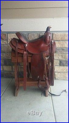 Used Colorado Saddlery Western Roping Saddle 16 Seat