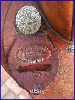 Used DAKOTA BARREL RACING SADDLE, 15
