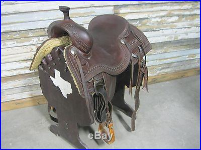 Used Jeff Smith Seat Size 16.5 Ranch Cutter Saddle -No Reserve