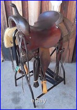 Used Roo-Hide Saddlery 16 1/2 Cutting Saddle -No Reserve