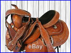 Used Western Saddle 14 15 16 Pleasure Show Rodeo Trail Barrel Racing Horse Tack
