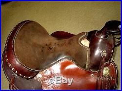 VINTAGE CIRCLE Y-YOAKUM TEXAS -WESTERN HORSE RIDING SADDLE-17-W ACC'S-MUST SEE