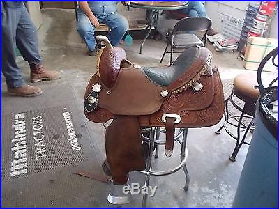 Very nice billy cook barrel saddle ostrich seat