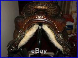 Vintage Billy Royal 15 Arabian Western Show Saddle model 1010