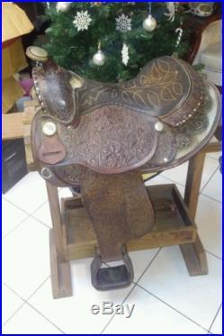 Vintage Circle Y 15 Sterling Saddle. Beautiful Design