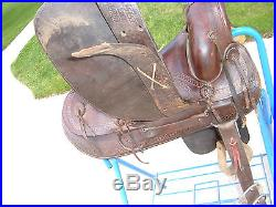 Vintage antique J C Higgins western saddle ranch working cowboy decor OLD $1 NR