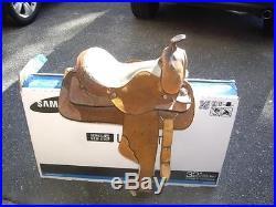 WESTERN LEATHER YOUTH CHILD PONY HORSE SADDLE
