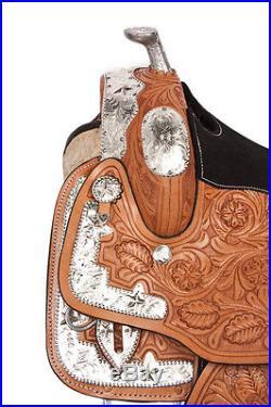 WESTERN SHOW SADDLE 16 PARADE PLEASURE TRAIL SADDLE BRIDLE TACK LEATHER HORSE