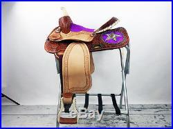 WHOLESALE LOT OF 2 WESTERN HORSE SADDLE 14 HAIR ON PINK PLEASURE TRAIL BARREL