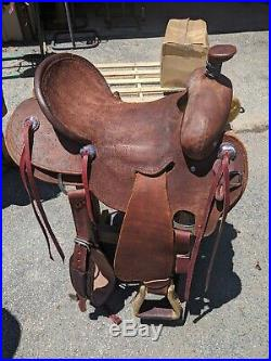 West Texas ranch work 16 colt cowboy Strip Down Saddle