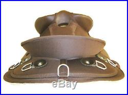 Western Australian Synthetic Barco Saddle Set Brown 15 (1021br)