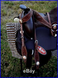 Western Cordura Trail Barrel Pleasure Horse SADDLE Bridle Tack Brown 4921