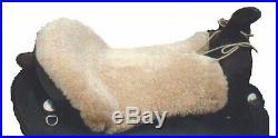 Western Horse Saddle Seat Cushion USA made by Just Merino Sheepskin JMS Products
