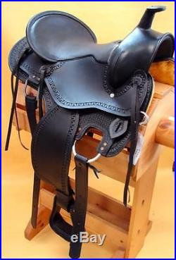 Western Pleasure Trail Ranch Gaited Horse Saddle 16 Endurance BLACK Just In New