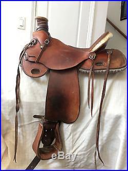 Western Saddle 15inch used custom wade tree | Western Saddles