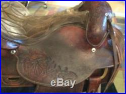 Western Saddle, Vintage Hereford Tex Tan Roper Style, 16