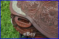 Western Training / Work Show Saddle With 15.5 Inch Seat