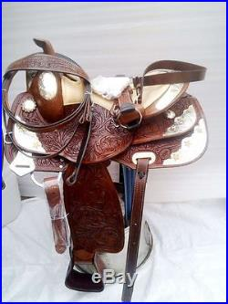 Western show tack trail cowboy pleasure leather horse saddlr bridle headstall