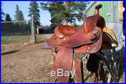 Youth Crates western saddle 13 inch seat good condition
